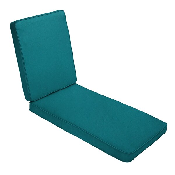 Sunbrella Outdoor Hinged Outdoor Chaise Lounge Cushion by Red Barrel Studio