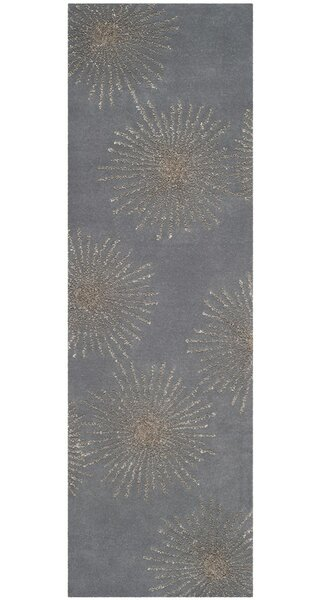 Beaufays Hand-Tufted Dark Gray/Silver Area Rug by Mercer41
