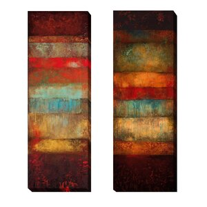 'Bora and Cebu' by Angelina Emet 2 Piece Graphic Art on Wrapped Canvas Set by Artistic Home Gallery