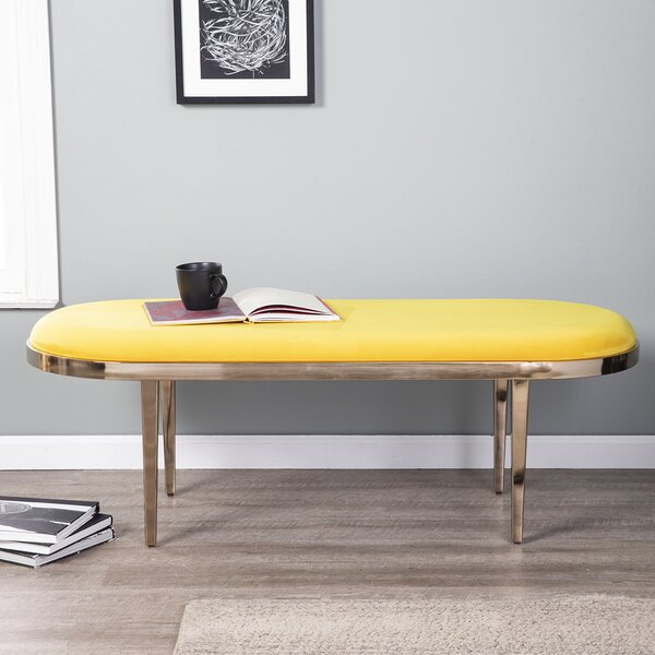Lamoreaux Upholstered Bench by Ivy Bronx