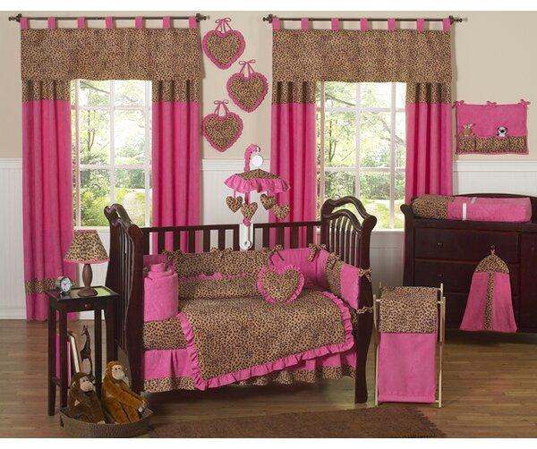 Cheetah Pink 9 Piece Crib Bedding Set by Sweet Jojo Designs