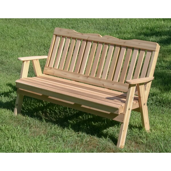 Fouts Wooden Garden Bench by August Grove