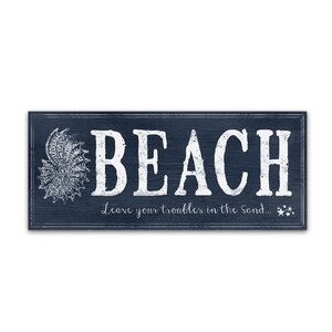 'Beach 2' Textual Art on Wrapped Canvas by Trademark Fine Art