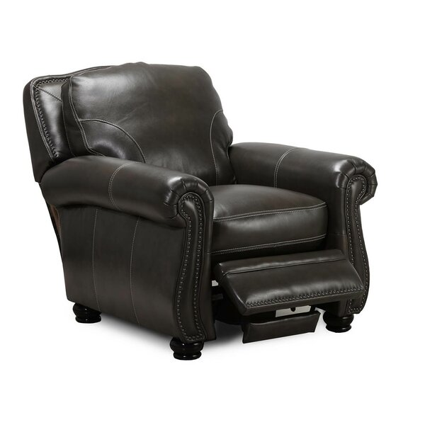 Mariela Leather Manual Recliner by Darby Home Co