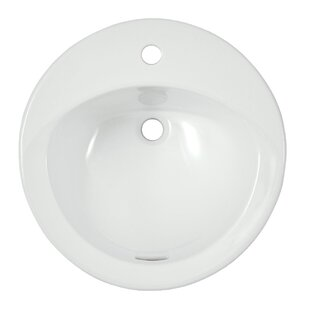 Inexpensive Ultimate Ceramic Circular Drop-In Bathroom Sink with Overflow By Toto