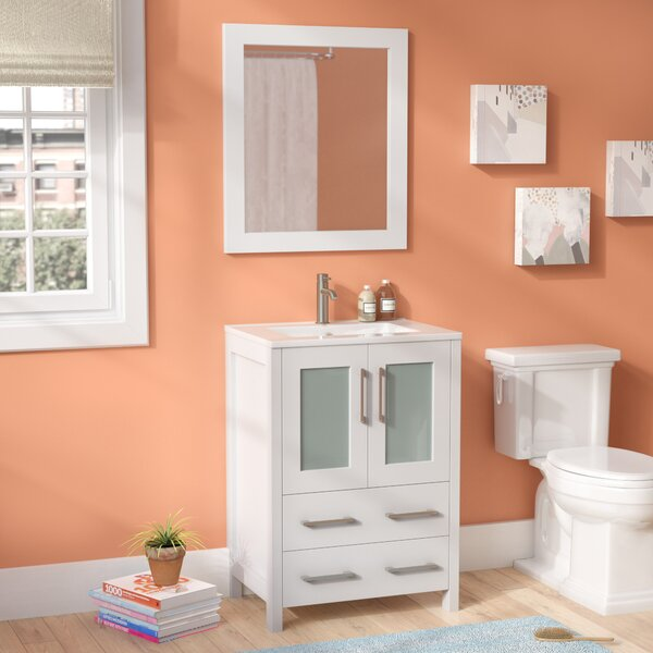 @ Lezlie 24 Single Bathroom Vanity Set with Mirror by Ivy Bronx| #$0.00!