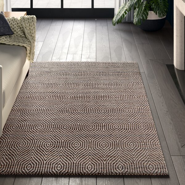 Blairstown Hand-Woven Charcoal Area Rug by Greyleigh