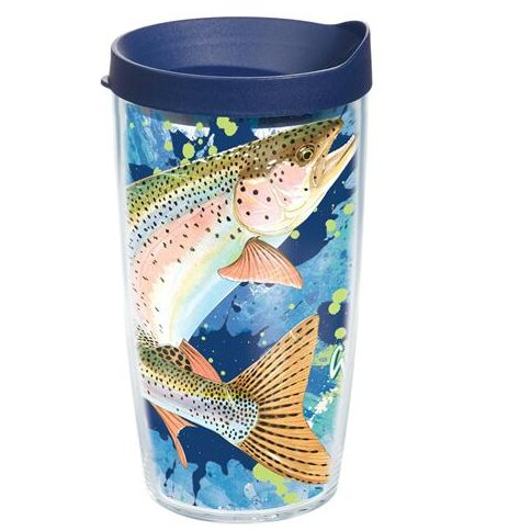 Guy Harvey Trout Plastic Travel Tumbler by Tervis Tumbler