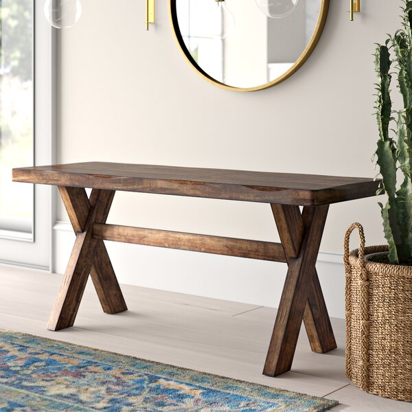 Toole Wooden Bench by Mistana