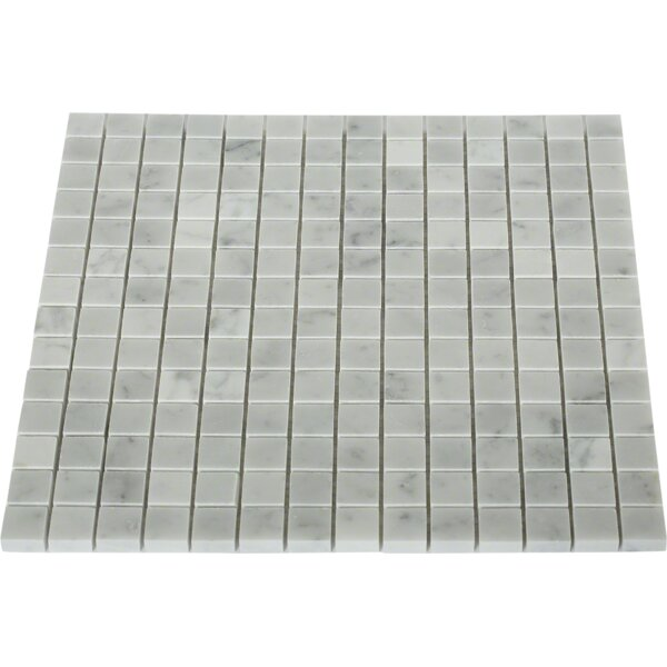 Oriental Squares 0.8 x 0.8 Marble Mosaic Tile in Gray by Splashback Tile