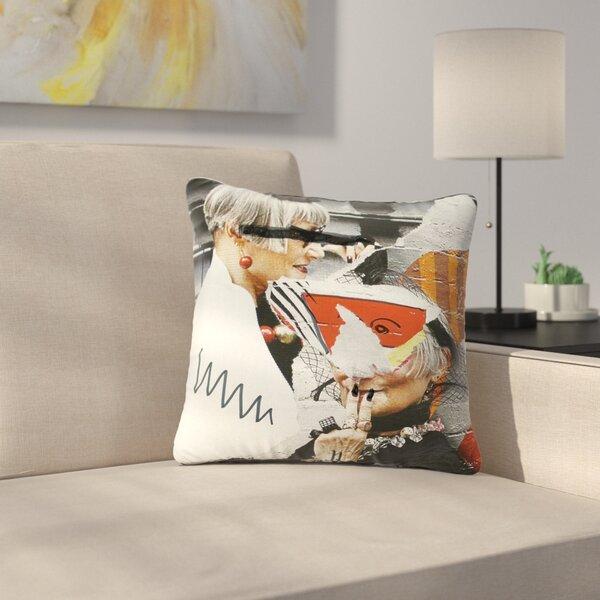 Jina Ninjjaga Style Pop Art Outdoor Throw Pillow by East Urban Home