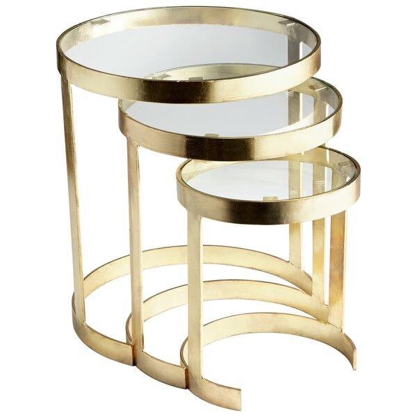 Terzina 3 Piece Nesting Tables by Cyan Design