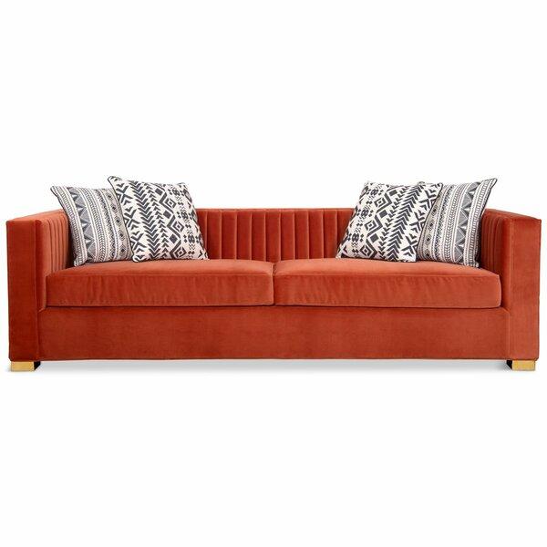Manhattan Velvet Tuxedo Arm Sofa By ModShop