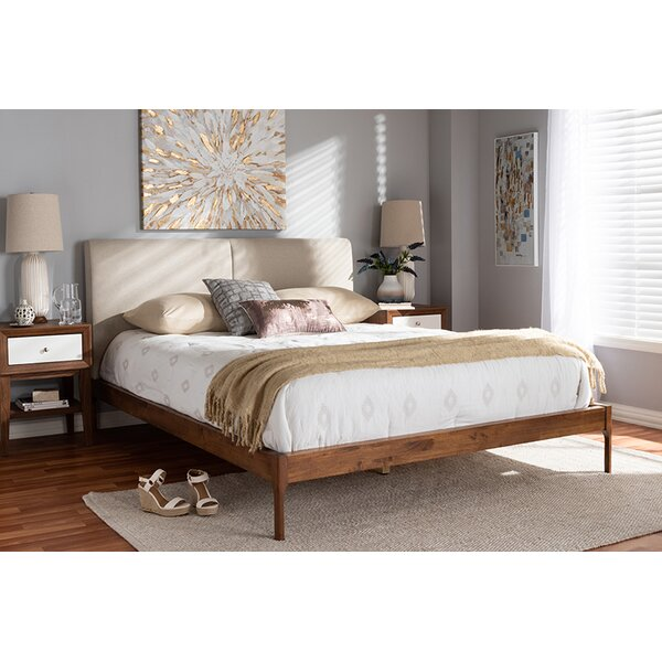 Engelman Upholstered Platform Bed by Union Rustic