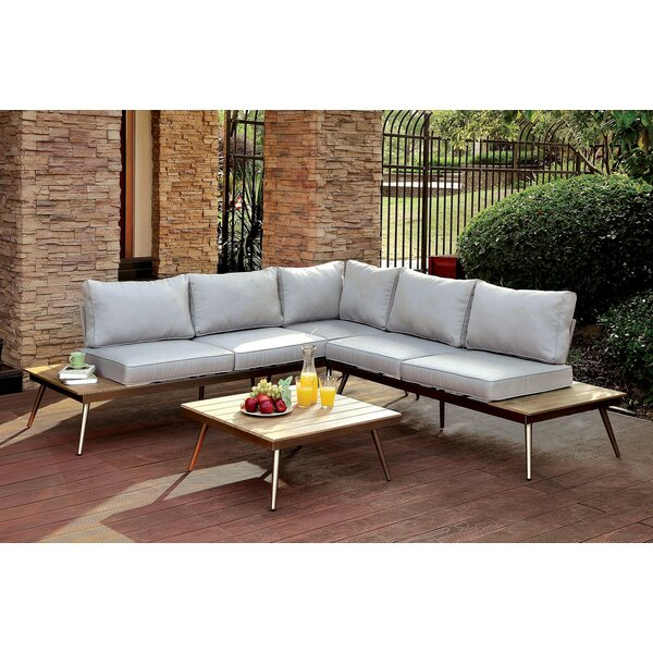 Brecht Patio Sectional with Cushions by Corrigan Studio