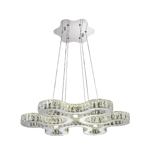 Odessa 42 - Light Unique / Statement Geometric Chandelier By CWI Lighting