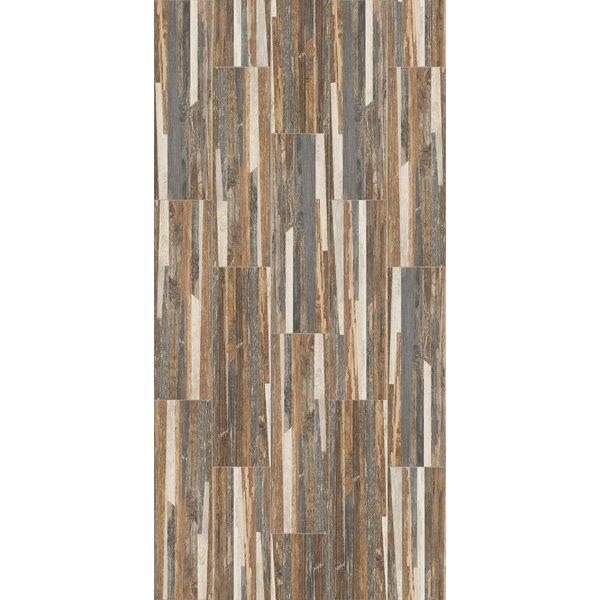 Tampico 7 x 24 Ceramic Wood Look Tile in Brown/Gray by Welles Hardwood