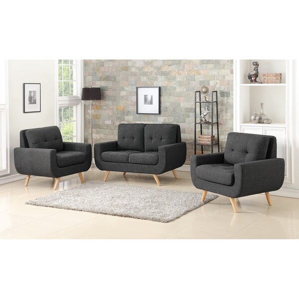 Bloomington Tufted 3 Piece Living Room Set by Corrigan Studio