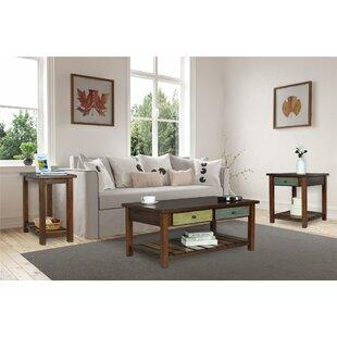 Best Roemer 3 Piece Coffee Table Set ByBloomsbury Market