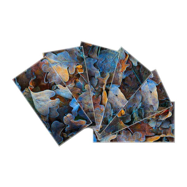 Crystal Skin 3 x 6 Glass Subway Tile in Blue/Gray by SkinnyTile