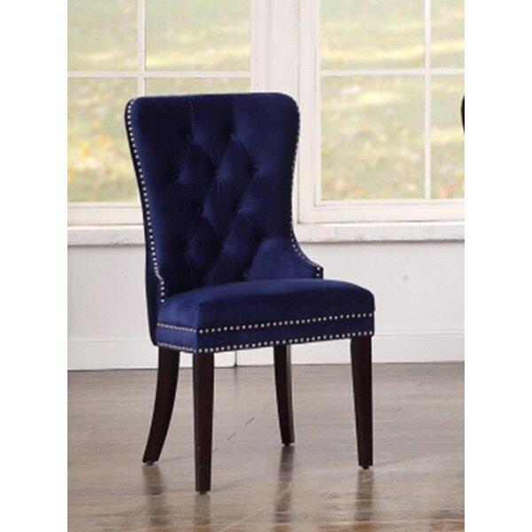 Chadwell Button-Tufted Velvet Slipper Chair (Set of 2) by Mercer41