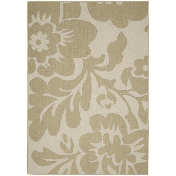 Floral Garden Tan/Ivory Area Rug by Garland Rug