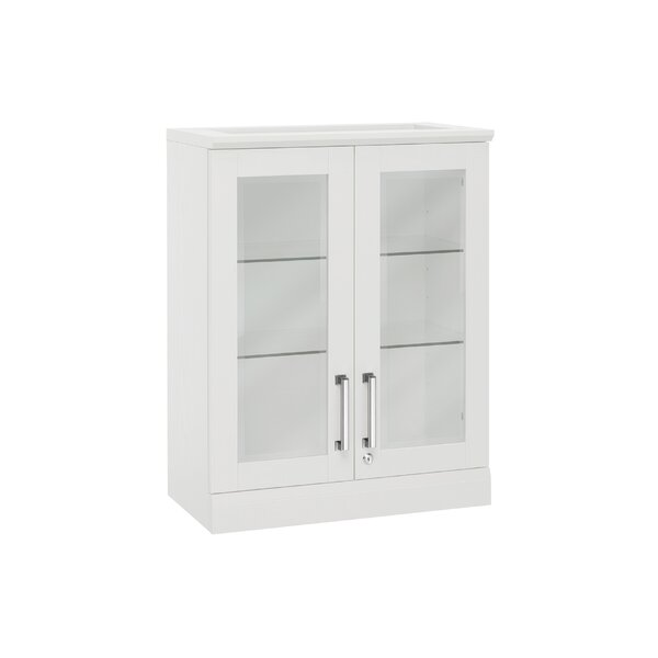 Home Bar Wall Cabinet with Wine Storage by NewAge Products