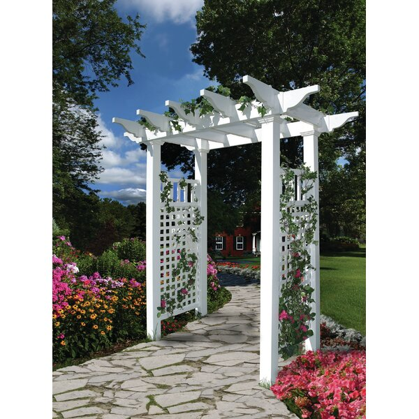 Fairfield Vinyl Arbor by New England Arbors