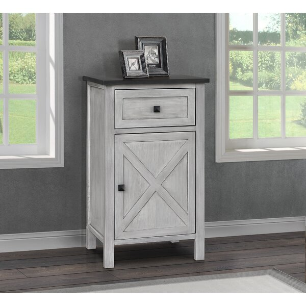Lamb Farmhouse 1 Drawer Nightstand by Gracie Oaks