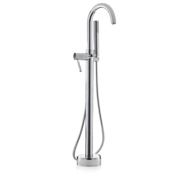 Single Handle Floor Mounted Freestanding Tub Filler with Hand Shower by Cheviot Products
