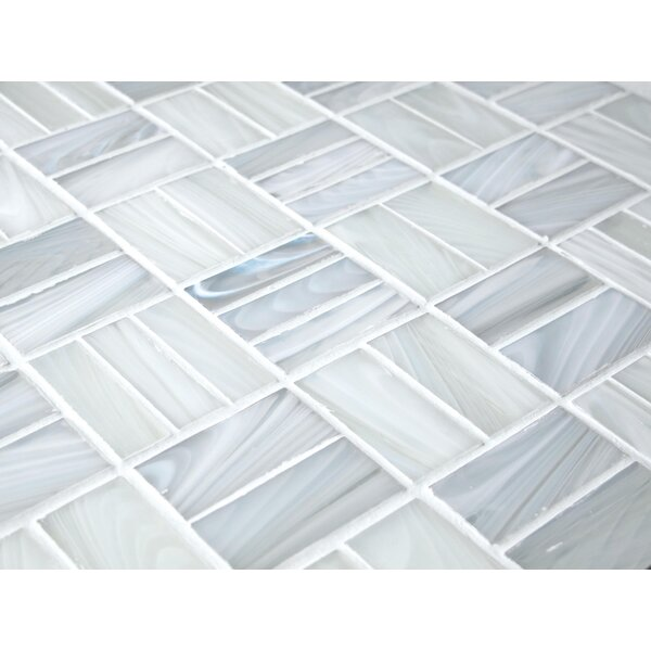 Antartic Kula 1 x 2 Glass Mosaic Tile in White by Tile Focus