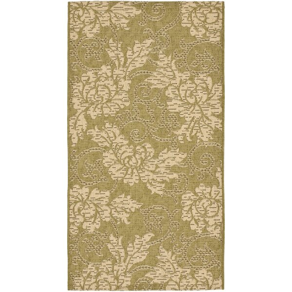 Laurel Green/Creme Outdoor Rug by August Grove