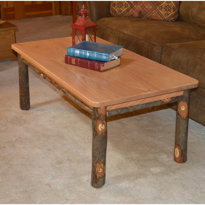 Admirable Yorba Hickory Solid Wood Coffee Table Machost Co Dining Chair Design Ideas Machostcouk