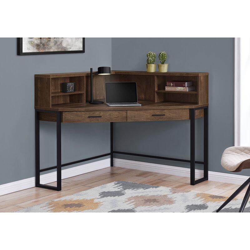 Gracie Oaks Funderburg Corner Desk With Hutch Reviews Wayfair