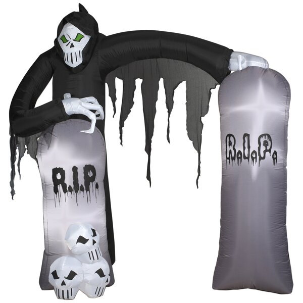 Archway Reaper Airblown Inflatable Halloween Decoration by Gemmy Industries