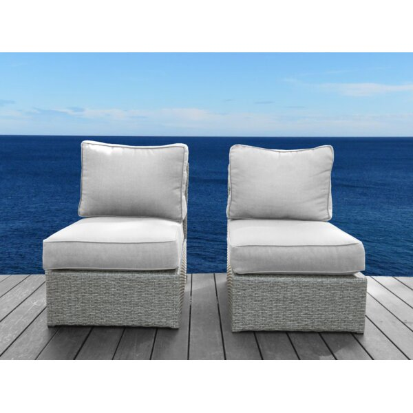 Shick Armless Patio Chair with Cushions (Set of 2) by Orren Ellis Orren Ellis