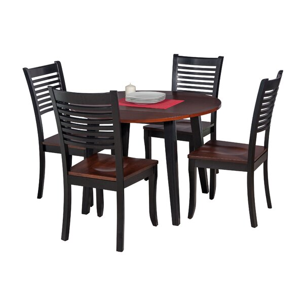 Dinh Modern 5 Piece Drop Leaf Solid Wood Dining Set by Latitude Run