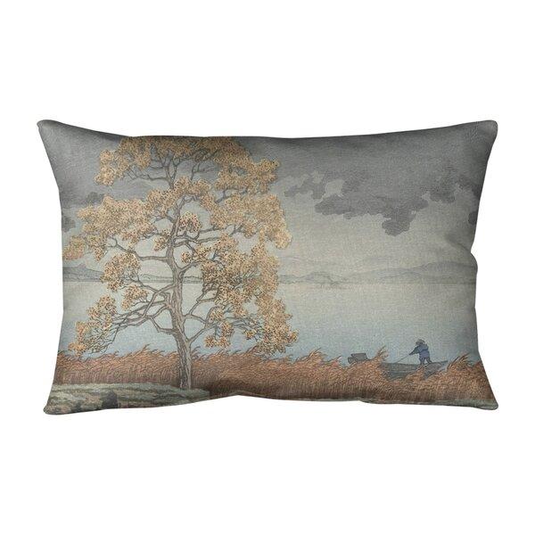 Rain over the Shore Indoor/Outdoor Lumbar Pillow