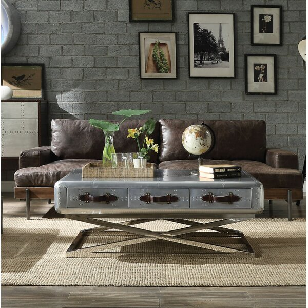 Pakswith Leather Sofa by Greyleigh