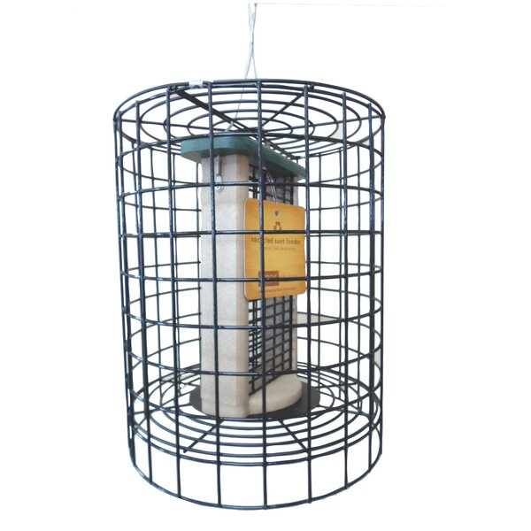 Choice Clever Clean Tube Bird Feeder with Wire Cage by Birds Choice