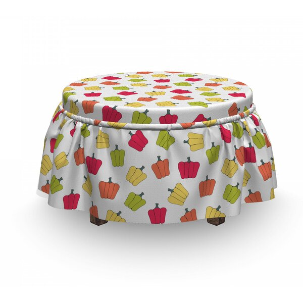 Cartoon Nursery Kitchen Ottoman Slipcover (Set Of 2) By East Urban Home