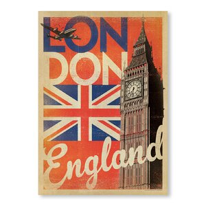 London Flag Vintage Advertisement by East Urban Home