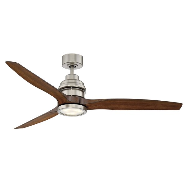 Harmoney 60 3 Blade Ceiling Fan with Remote Control by Orren Ellis