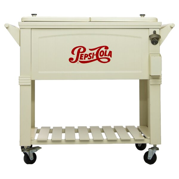 80 Qt. Pepsi Antique Patio Rolling Cooler by Permasteel