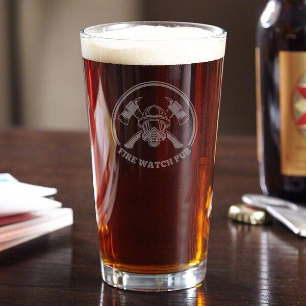 Hot Times Fire Watch 16 oz. Glass Pint Glass by Home Wet Bar