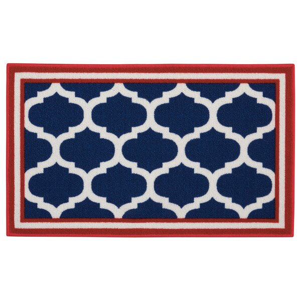 Dupont Navy Trellis Area Rug by Alcott Hill
