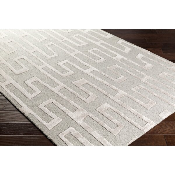 Blandon Hand-Tufted Neutral/Gray Area Rug by Wrought Studio
