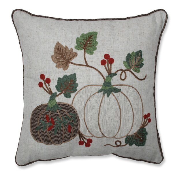 Dedman Sweater Knit Harvest Pumpkins Throw Pillow by August Grove