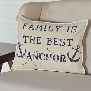 Collins Beach Family Anchor Breakfast Pillow