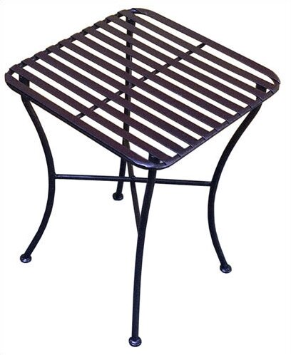 Folding Iron Square Side Table by Pangaea Home and Garden
